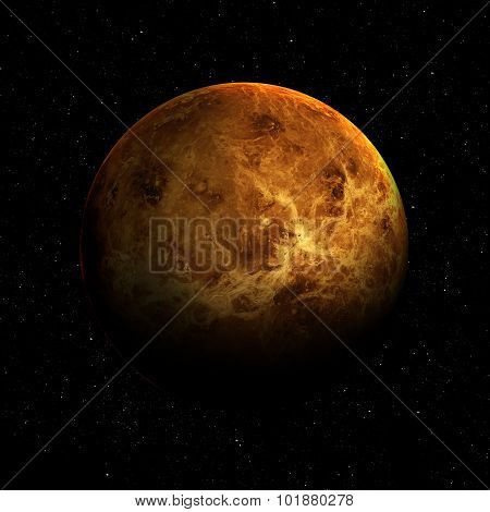 Hight quality Venus image. Elements of this image furnished by NASA poster