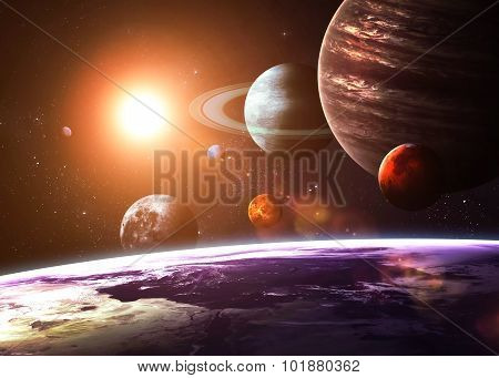 Solar system and space objects