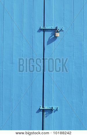 Locks On Beach Hut. Hove. UK