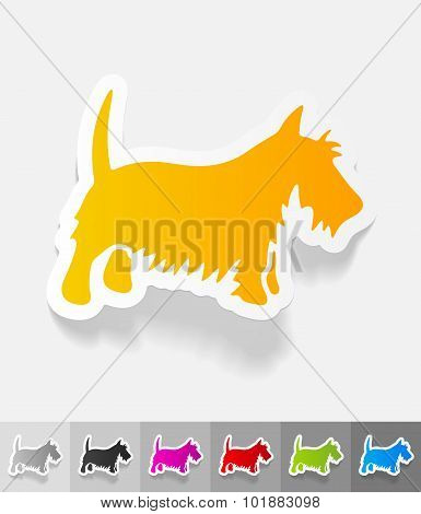 realistic design element. scottish terrier