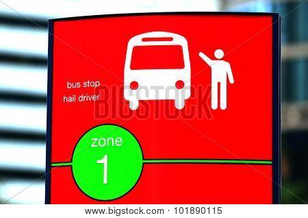 Australian Bust Stop Signpost