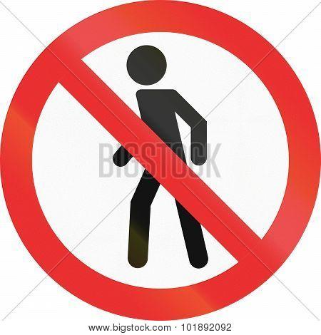 No Pedestrians In Mexico
