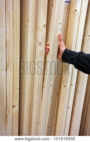 Wooden laths