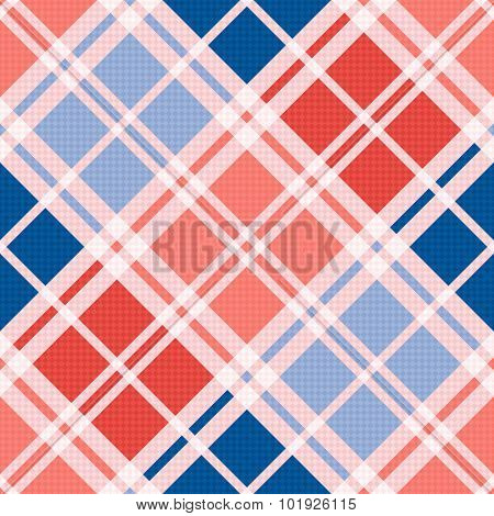 Diagonal Seamless Pattern In Red An Blue Trendy Hues