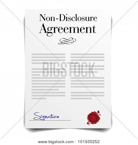 detailed illustration of a Non-Disclosure Agreement Letter, eps10 vector