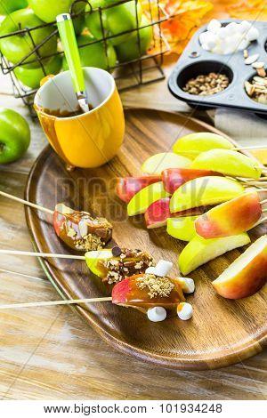 Caramel Apples Toppings