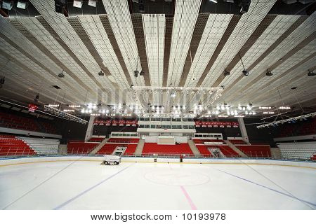Stadium On  Hockey Match