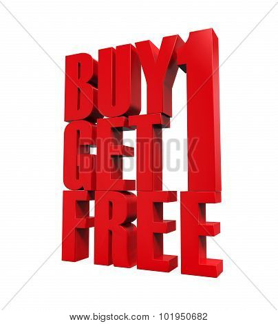 Buy One Get One Free Text