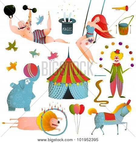 Circus Carnival Show Clip Art Vintage Collection