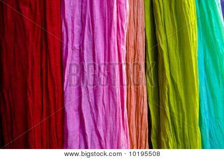 Colorful Material At A Paris Market