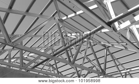 Steel Roof Black And White.