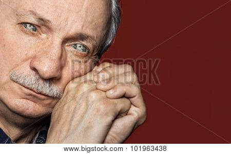 Man With Dollar Bill Instead Of The Eyes