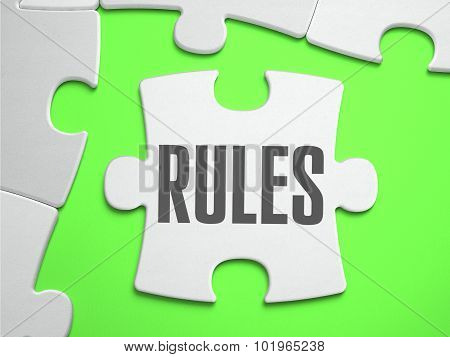 Rules - Jigsaw Puzzle with Missing Pieces.