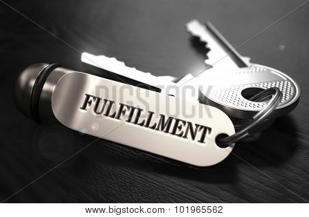 Fulfillment Concept. Keys with Keyring.