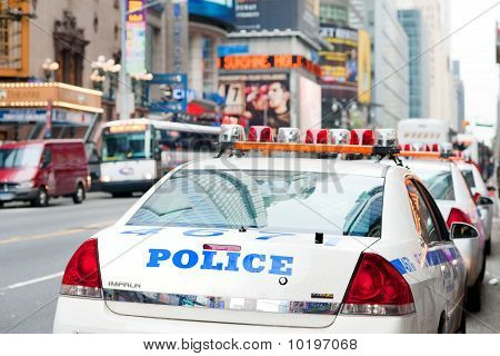 Police cars on 42nd street