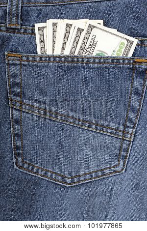 Jeans with American money