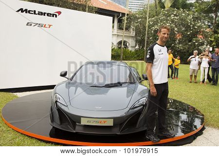Launch Of Mclaren 675Lt By Jenson Button