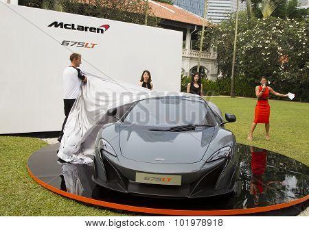 Launch Of Mclaren 675Lt By Jenson Button