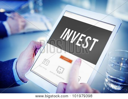Invest Investment Economy Financial Marketing Concept poster