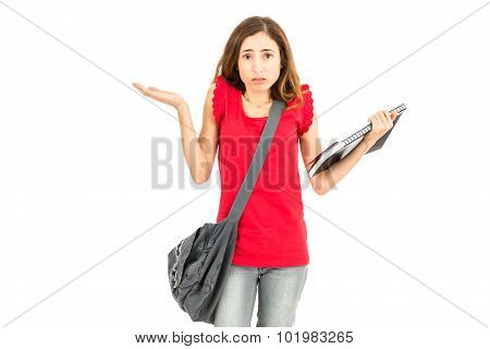 Confused Female Student