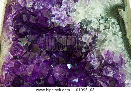 Close Up Amethyst Crystal A Semiprecious Gem