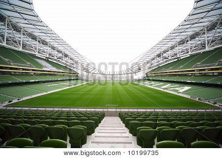 Empty stadium Aviva June 10 2010 in Dublin