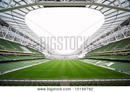 Empty stadium Aviva June 10 2010 in Dublin.