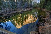 EI Captain reflection at Yosemite National Park California USA poster