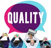 Quality Guarantee Grade Excellence Level Concept poster