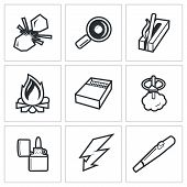 Vector Isolated Flat Icons collection on a white background for design poster