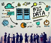 Big Data Storage Online Technology Database Concept poster
