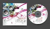 vector cd cover design template with copy space, vector illustration poster