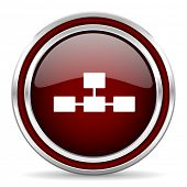 database red glossy web icon  poster