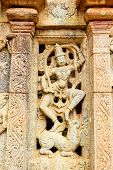 Window art and relief work at the Bhoga nandeeshvara temple complex at Bangalore built by local Bana dynasty king around 810 A.D poster