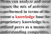 a conceptual image representing a focus on knowledge poster
