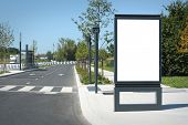 Blank outdoor billboard in France - Mock-up template for designers, with clipping path. poster