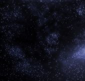 Stars and galaxy space starry sky night background. Universe filled with stars illustration. poster