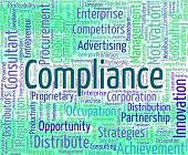 Compliance Word Showing Agree To And Comply poster