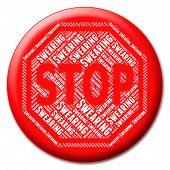 Stop Swearing Representing Bad Word And Prevent poster