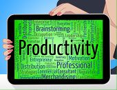 Productivity Word Meaning Efficiency Wordclouds And Effective poster