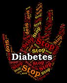 Stop Diabetes Representing Warning Sign And Prevent poster