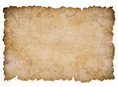 old nautical treasure map with torn edges isolated poster