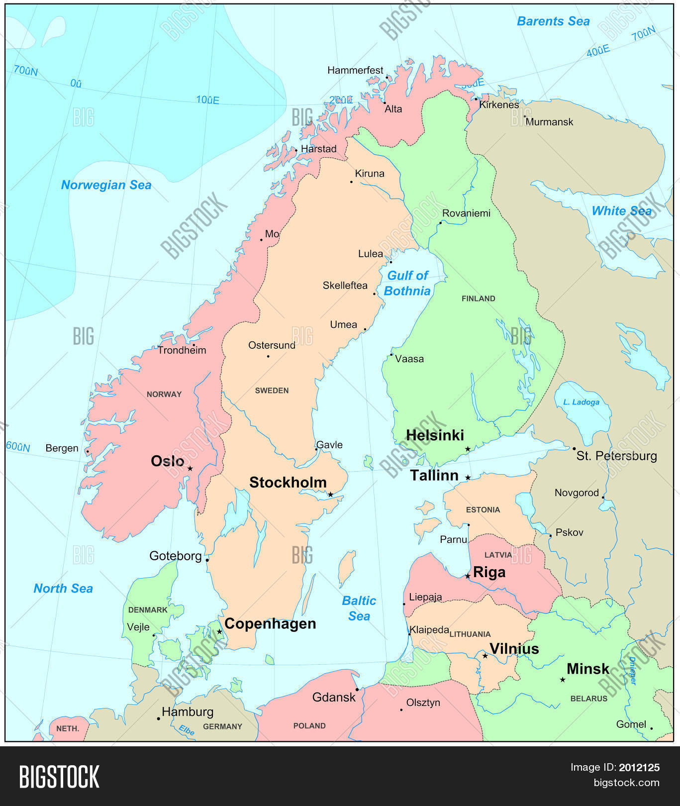 Scandinavia Map Image & Photo (Free Trial) | Bigstock