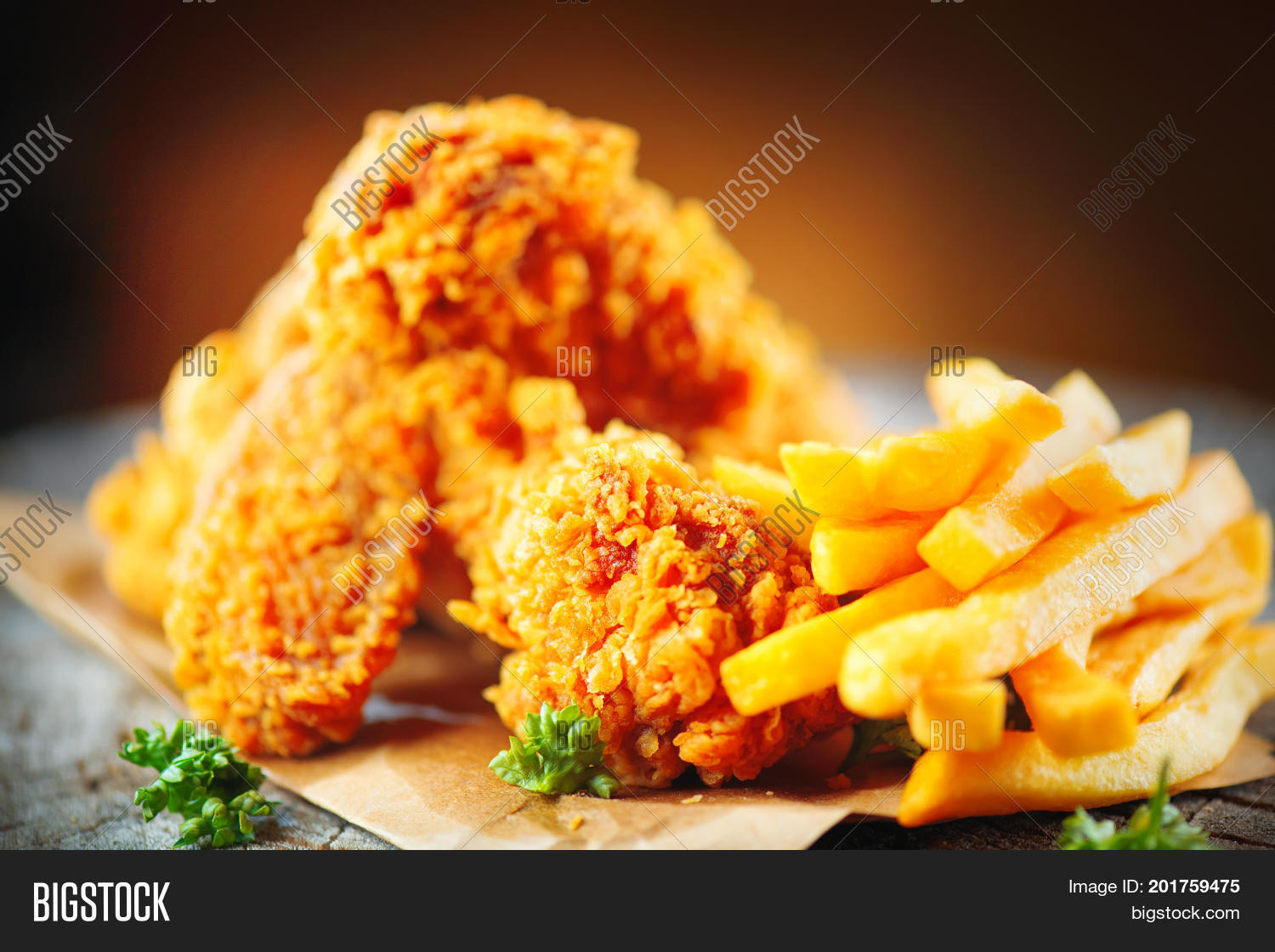 Fried chicken wings image photo free trial bigstock - Kentucky french chicken ...