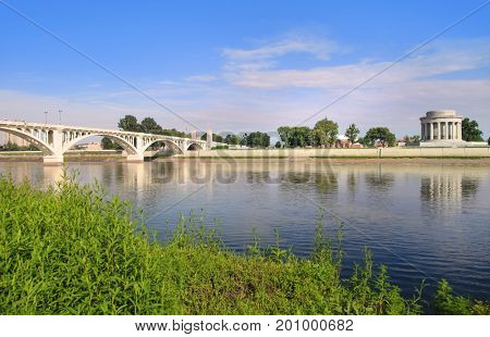 Vincennes city in Indiana on the banks of Wabash river