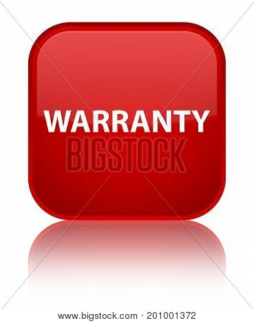 Warranty Special Red Square Button