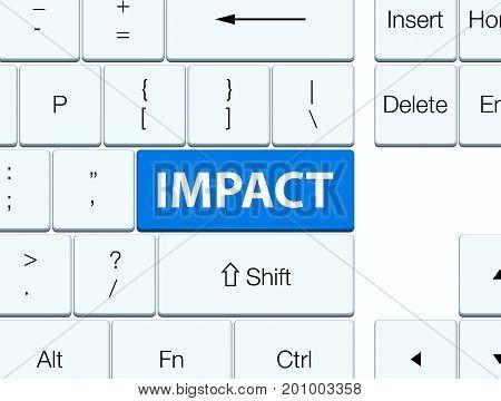 Impact Blue Keyboard Button