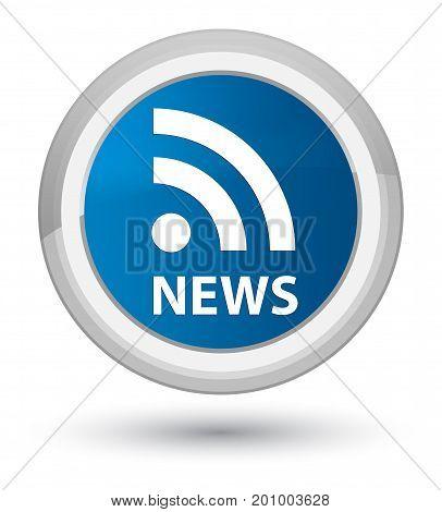 News (rss Icon) Prime Blue Round Button
