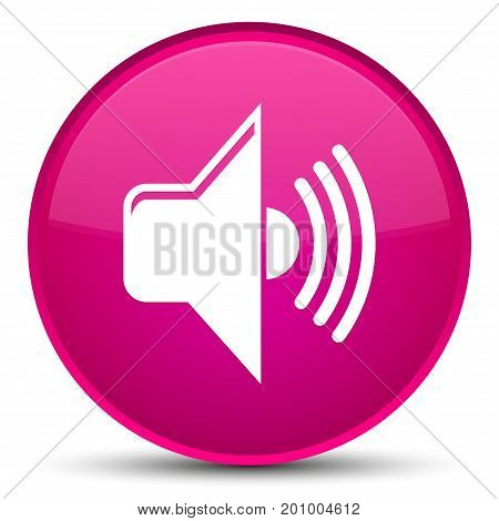 Volume Icon Special Pink Round Button