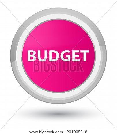 Budget Prime Pink Round Button